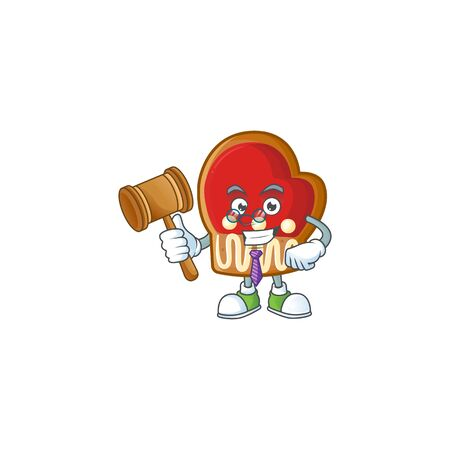 Smart judge gloves cookies presented in cartoon character style. Vector illustration