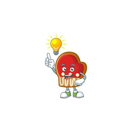 Have an idea cute gloves cookies on a cartoon style. Vector illustration