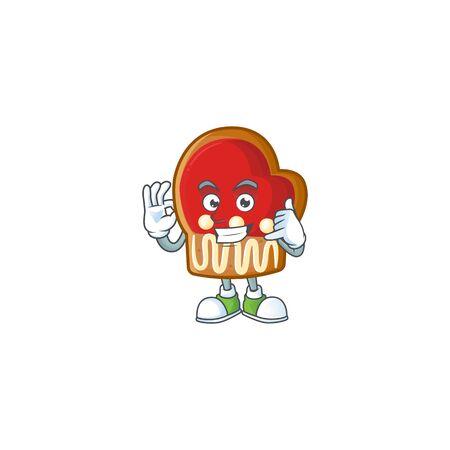 Call me cute gloves cookies mascot cartoon style Çizim