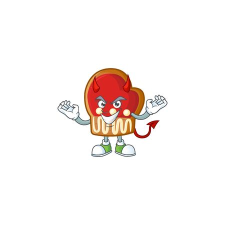 mascot cartoon of gloves cookies on a Devil gesture design