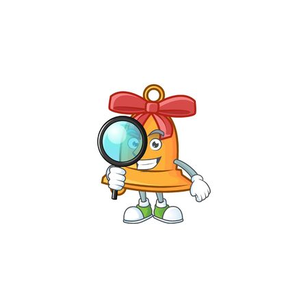One eye christmas bell Detective cartoon character style