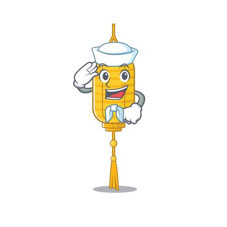 Mascot of Cute lamp hanging Sailor cartoon character. Vector illustration