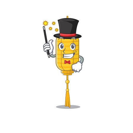 Cartoon character design of lamp hanging Magician style. Vector illustration Foto de archivo - 134716492