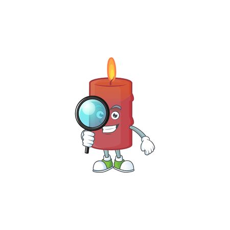 One eye red candle Detective cartoon character style Standard-Bild - 134768578