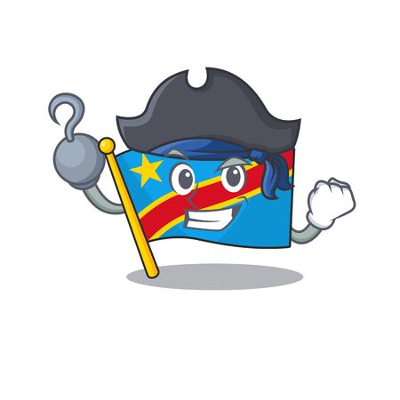 one hand Pirate flag democratic republic mascot cartoon style Standard-Bild - 134745839
