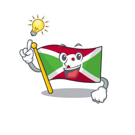 Have an idea cute flag burundi on a cartoon style