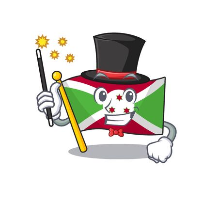 Cartoon character design of flag burundi Magician style