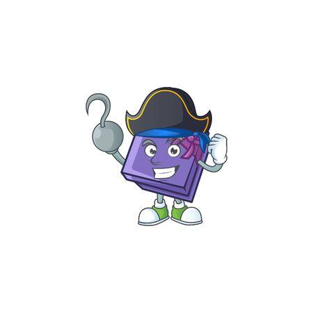 one hand Pirate purple gift box cartoon style. Vector illustration 向量圖像