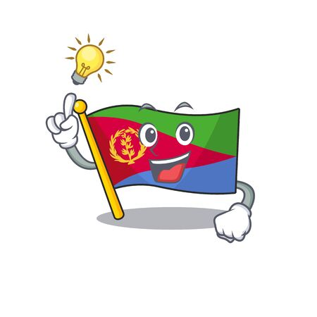 Have an idea cute flag eritrea on a cartoon style Illusztráció