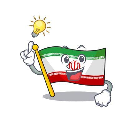 Have an idea cute flag iran on a cartoon style