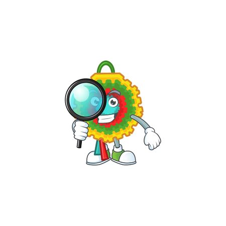 One eye pinata Detective cartoon character style