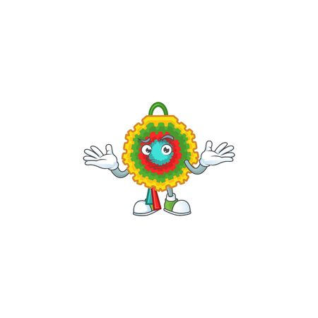 Super Cool Grinning pinata mascot cartoon style. Vector illustration Ilustração