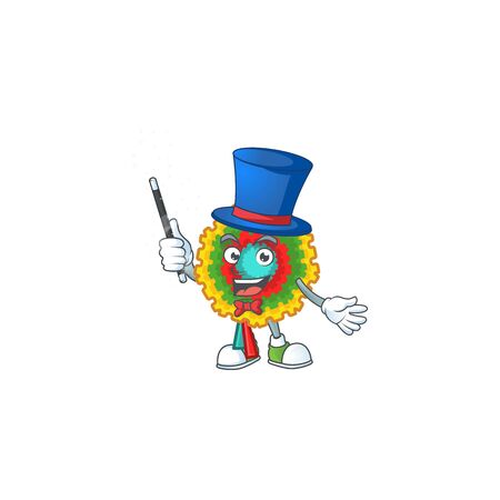 Cartoon character of a pinata Magician style. Vector illustration