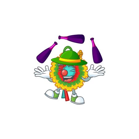 Super cool Juggling pinata mascot cartoon style