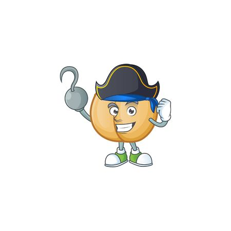 one hand Pirate chickpeas in cartoon style Illustration