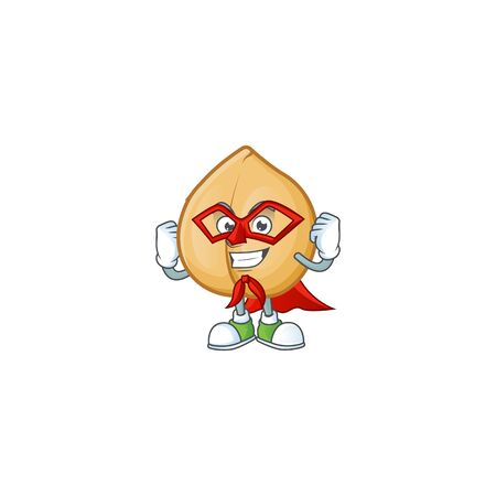 A cartoon of chickpeas wearing costume of Super hero