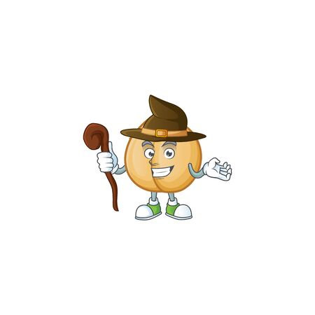 Happy Halloween Witch chickpeas cartoon character style. Vector illustration 向量圖像