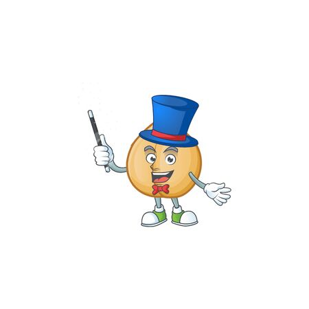 Cartoon character of a chickpeas Magician style. Vector illustration 向量圖像