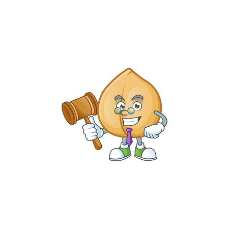 Smart judge chickpeas presented in cartoon character style. Vector illustration 向量圖像