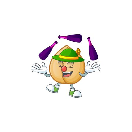 Super cool Juggling chickpeas mascot cartoon style. Vector illustration 向量圖像