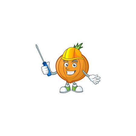 Cute and cool automotive shallot presented in mascot design. Vector illustration
