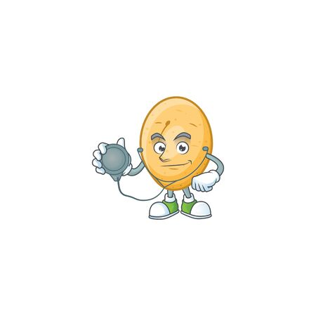 Potato cartoon character style as a Doctor with tools. Vector illustration