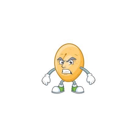Picture of potato cartoon character with angry face. Vector illustration Standard-Bild - 135472967