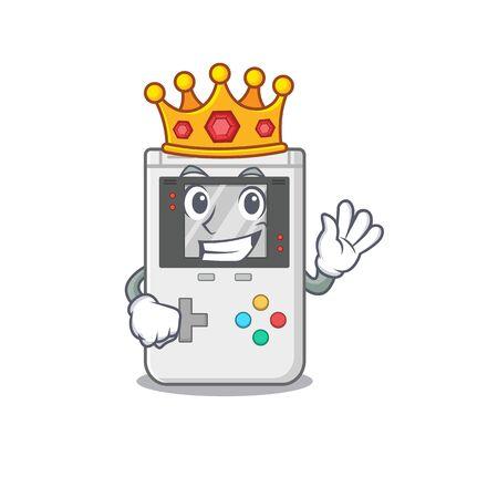 e Scroll A stylized of King on cartoon character design. Vector illustration Ilustração