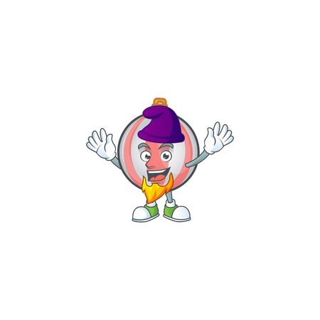 Cartoon christmas ball isolated with character elf vector illustration