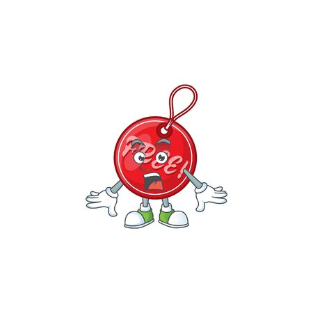 Character surprised in christmas free tag cartoon