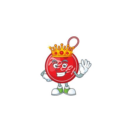 Christmas free tag isolated with mascot king vector illustration