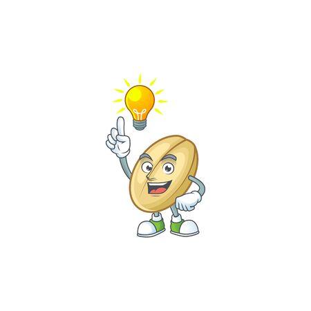 Have an idea cute gesture split bean on a cartoon style. Vector illustration