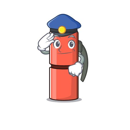 bottle Scroll Cartoon mascot style as a Police officer