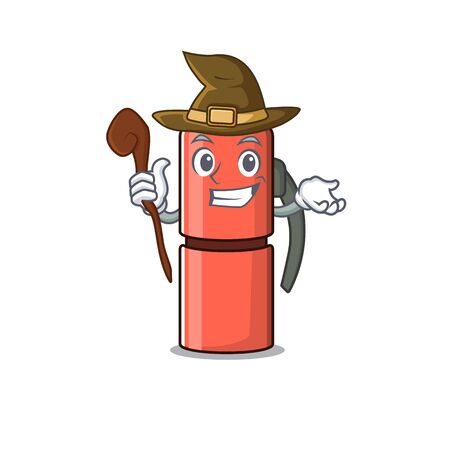 Happy Witch bottle Scroll cartoon character design