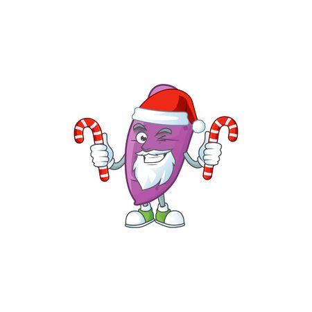 Okinawa yaw Cartoon character in Santa Claus with candy