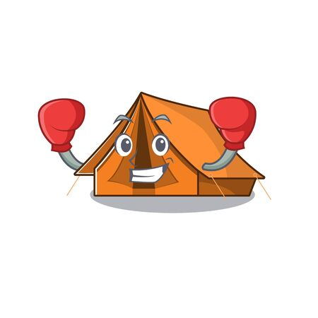 Happy Boxing camping tent Scroll mascot character style