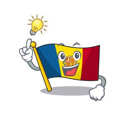Have an idea flag andorra Scroll cartoon character design
