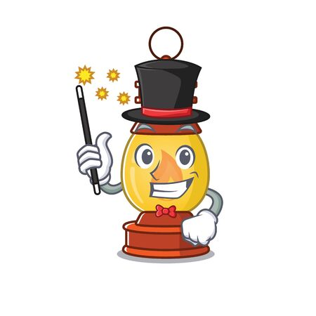 Mascot of lantern Scroll performance as a Magician style
