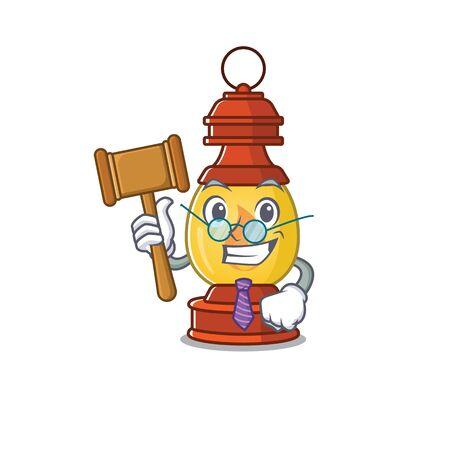 Professional Judge lantern Scroll presented in cartoon character design. Vector illustration