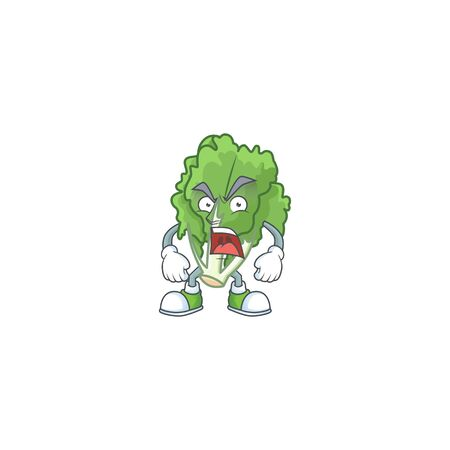 angry face of endive cartoon character style Stock Illustratie