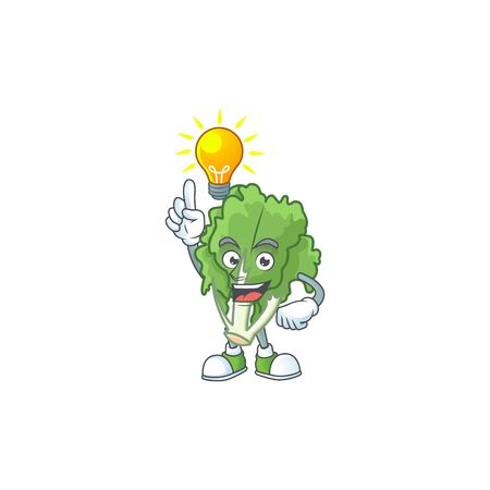 Have an idea cute gesture endive on a cartoon style Stock Illustratie