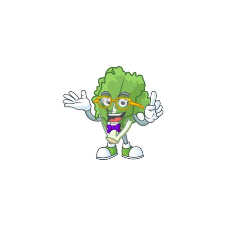 Super Cute Geek endive cartoon character design