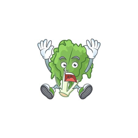 Cartoon character of endive style with shocking gesture Stock Illustratie