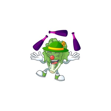 Cute and cool Juggling endive cartoon character