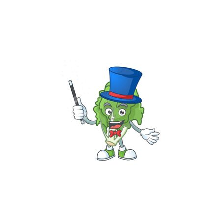 Cartoon character of endive performance as a Magician Stock Illustratie