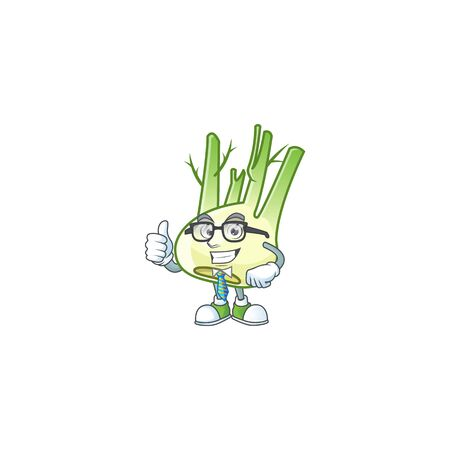 Cool Businessman fennel cartoon character design style