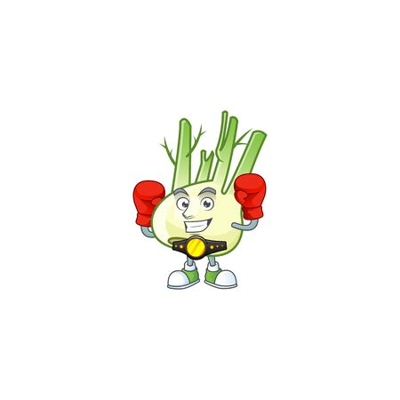 Funny Face Boxing fennel cartoon character design