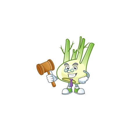 A professional judge fennel presented in cartoon character design. Vector illustration