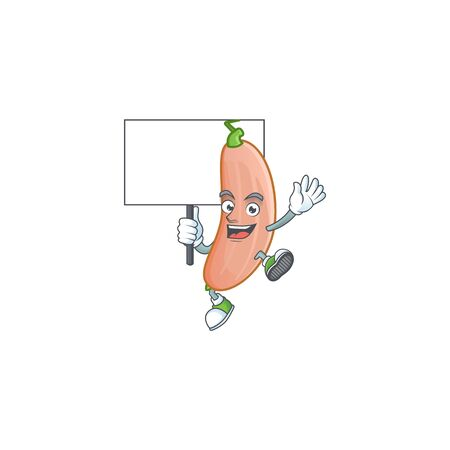 Banana squash cute cartoon character style bring board. Vector illustration Foto de archivo - 136233114