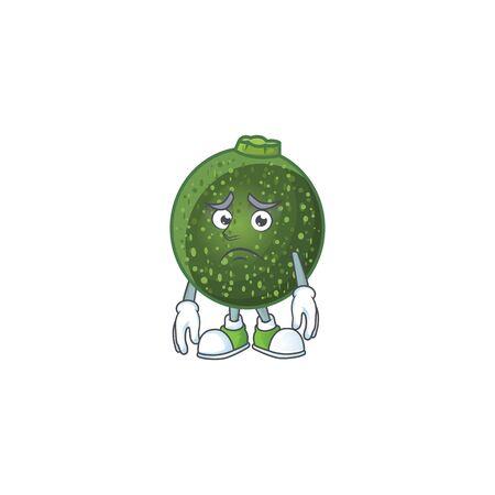 Afraid gem squash Cartoon character mascot design. Vector illustration